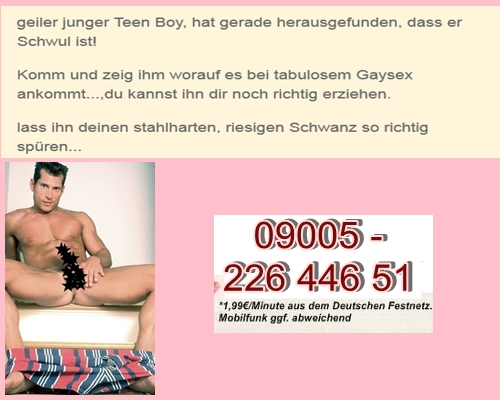 Gay Telefonsex & Telefonerotik